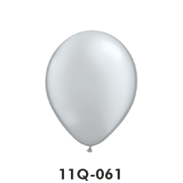 Qualatex-Rundballons Metall silber