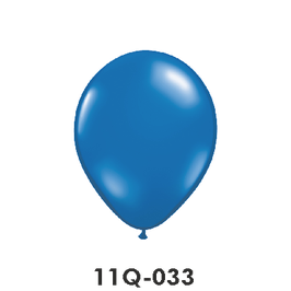 Qualatex-Rundballons Transparent saphirblau