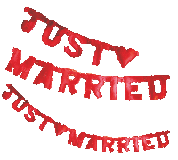 Girlande Just Married rot 01