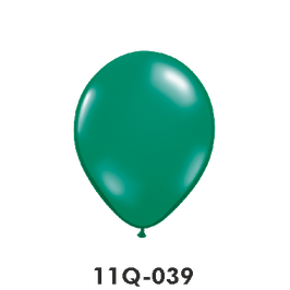 Qualatex-Rundballons Transparent Teal