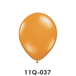Qualatex-Rundballons Transparent mandarin orange