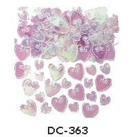 Deco-Konfetti grosse und kleine Herzen rosa irisierend