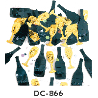 Deco-Konfetti 'Sektflaschen und Gläser'