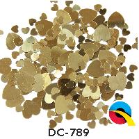 Deco-Konfetti goldene Herzen