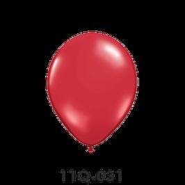 Qualatex-Rundballons Transparent rubinrot