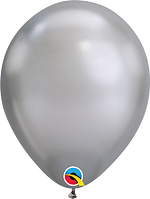 Qualatex-Rundballons Chrome silber
