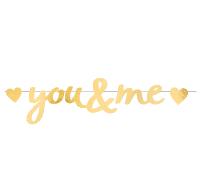 Girlande you & me gold 03
