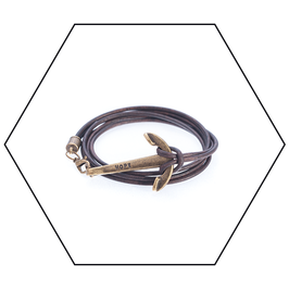 Hope Lederarmband // Bronze