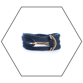 Hope Stoffarmband // Bronze