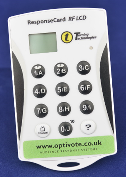 ResponseCard system with 125 handsets dry hire