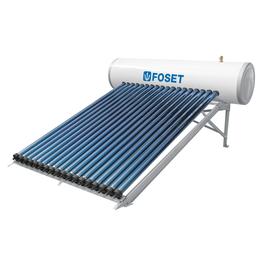 Calentador Solar de tubos al vacío tipo Heat Pipe de 12 tubos, 4 personas, alta y baja presión.