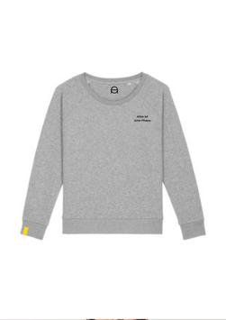 Bequemer Sweater - grau meliert