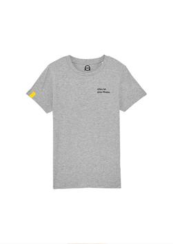 Kinder T-Shirt - grau meliert