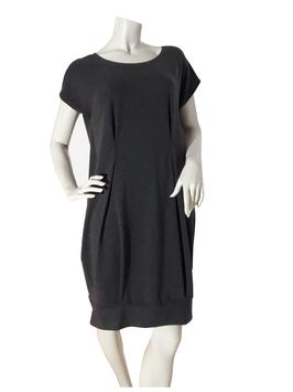 Oversize-Kleid grau meliert