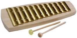 Glockenspiel diatonisch 12 Töne