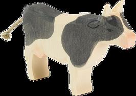 Lehmä, musta, seisova