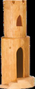 Pyöreä torni rapuilla