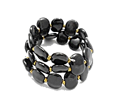 Bracelet Kazuri shale black
