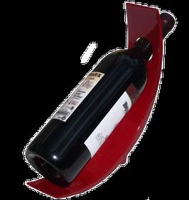 Porte bouteille laque rouge