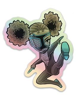 Chibi Whispers Holographic Sticker