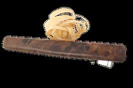 Seitenklammer / Krokodilklammer / 65mm / breitere Form / Intarsie / Ulmemaser