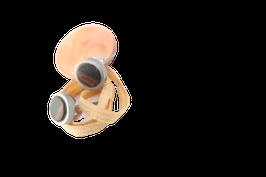 Ohrstecker / Paar / 6mm Mini / Edelstahl / Palisander
