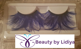 Blue Feathery Strip Lashes