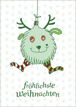Postkarte | Weihnachtskugelbär