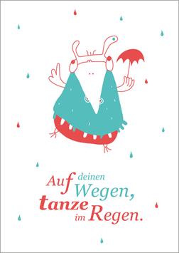 Postkarte | Tanze im Regen