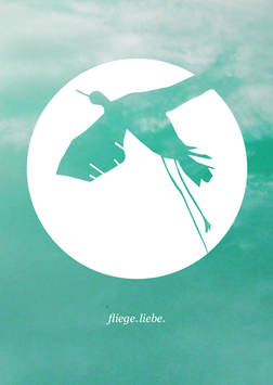 Postkarte | fliege.liebe.