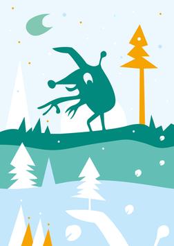 Postkarte | Winterwesen