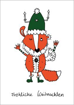 Postkarte | Weihnachtsfuchs