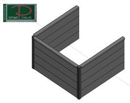 Hochbeet Massiv Erweiterungsmodul H75