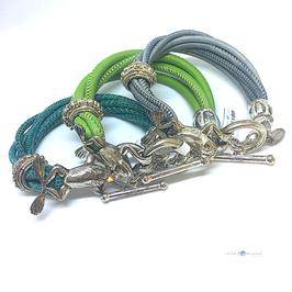 """Armband Leder mit 925Silber """"Frog"""""""