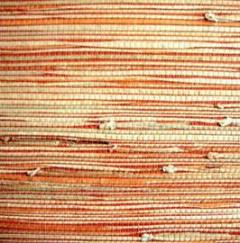 "Gras Tapete ""Haruko"" rot, orange, natur"