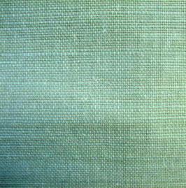 "Sisal Tapete ""Gin"", blau grün"