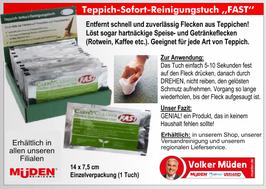 Teppich-Sofort-Reinigungstuch