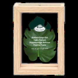 Lijstje met dubbelglas/ S- leuk om je geperste droogbloemen in te doen-