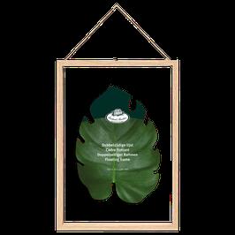 Lijstje met dubbelglas/ XL- leuk om je geperste droogbloemen in te doen-