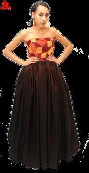 Strapless ankara ball gown