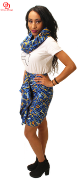 Pencil skirt with front flap