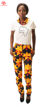 African print pencil trouser
