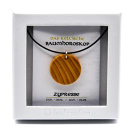 Keltisches Baumhoroskop - Kettenanhänger Zypresse