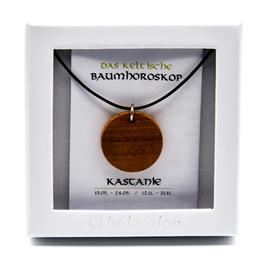 Keltisches Baumhoroskop - Kettenanhänger Kastanie