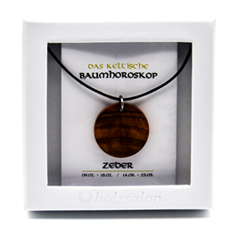 Keltisches Baumhoroskop - Kettenanhänger Zeder