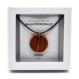 Keltisches Baumhoroskop - Kettenanhänger Olivenbaum