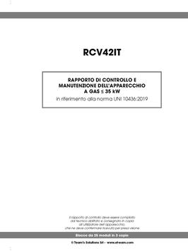 Rapporto di manutenzione sicurezza impianti < 35 kW