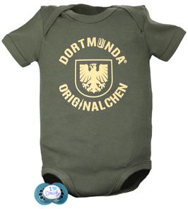 Baby Body Olive Dortmunda-Originalchen Stadtwappen