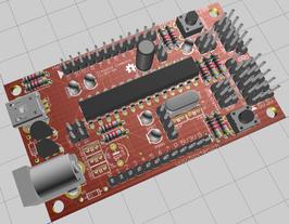 HelvePic32 board complete