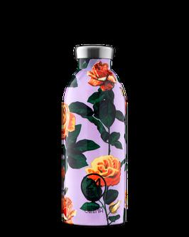 24Bottles Thermosflasche 0,5l Edelstahl Lila Blume